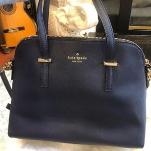 Never used Kate Spade true navy blue purse